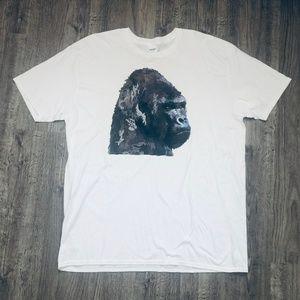 Gildan Harambe Gorilla 100% Cotton White T-Shirt